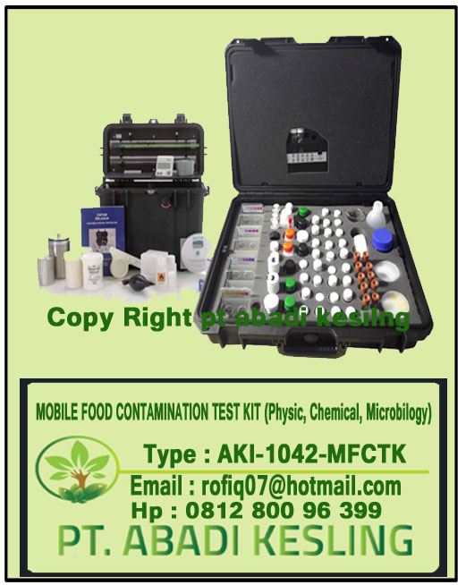 Mobile Food Contamination Test Kit (Physical, Chemical and Microbiology)