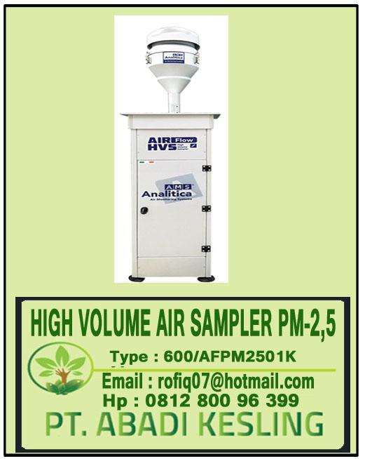 HIGH VOLUME AIR SAMPLER PM2,5 600/AFPM2501K
